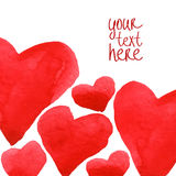 Hearts background template Royalty Free Stock Photo