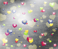 Hearts background with texture Stock Images