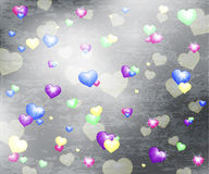 Hearts background with texture Royalty Free Stock Photo
