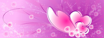 Hearts background (Timeline Cover) Royalty Free Stock Photography