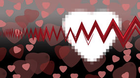 Hearts on background. For valentine day Vector Illustration