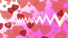 Hearts on background. For valentine day Royalty Free Stock Photos