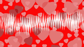 Hearts on background. For valentine day Royalty Free Illustration