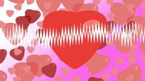 Hearts on background. For valentine day Royalty Free Stock Images
