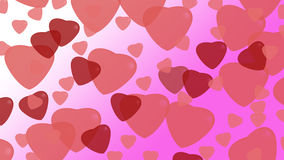 Hearts on background. For valentine day Stock Images