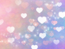 Hearts Background for Valentine's day Stock Image