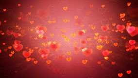 Hearts background. Valentines Hearts background. Looped Animation stock video