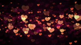 Hearts background. Valentines Hearts background. Looped Animation stock video footage