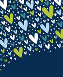 Hearts background vector Stock Photography