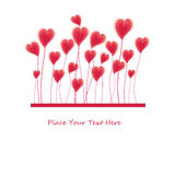 Hearts background vector Royalty Free Stock Photos