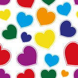 Hearts background. Stock Photo