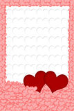 Hearts background vertically. Royalty Free Stock Photos