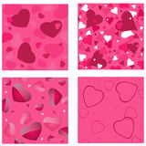 Hearts backgrounds Royalty Free Stock Images