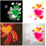 Hearts Backgrounds. Beautiful Decorative Abstract Blurred Valentine's Day Love Hearts Festive Backgrounds Vectors Stock Photos