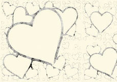 Hearts backgrounds of Love symbol Stock Photo