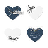 Hearts with bakers twine Royalty Free Stock Photography