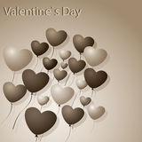 Hearts-Balloons Royalty Free Stock Photo