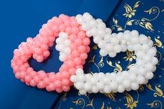 Hearts of balloons Stock Photos