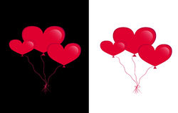 Hearts balloons Royalty Free Stock Images