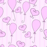 Hearts and balloons Stock Photo