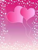Hearts balloons Stock Image