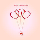 Hearts balloons on a pink background Royalty Free Stock Photography