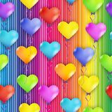 Hearts balloons Royalty Free Stock Photo