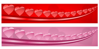 Hearts banner Royalty Free Stock Photo