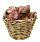 Hearts in a basket Royalty Free Stock Image