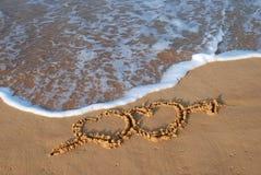 Hearts beach Royalty Free Stock Photography