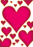 Hearts bg Stock Images