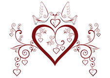 Hearts and birds Royalty Free Stock Image