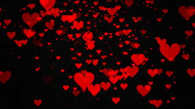 Hearts on black background Royalty Free Stock Photo