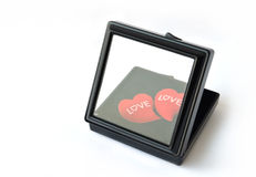 Hearts in the black box Stock Image