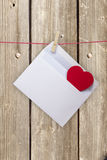 Hearts and blank envelop Stock Photo