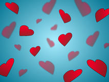 Hearts on blue Royalty Free Stock Photography