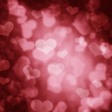 Hearts Bokeh Stock Photography