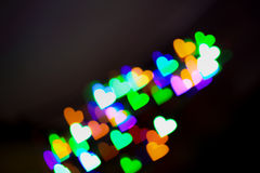Hearts bokeh as background Royalty Free Stock Photo