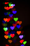 Hearts bokeh as background Stock Images