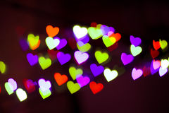 Hearts bokeh as background Stock Image