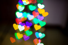 Hearts bokeh as background Royalty Free Stock Image