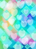 Hearts bokeh background Royalty Free Stock Image