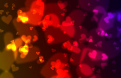 Hearts bokeh background Stock Photography