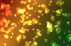 Hearts bokeh background Stock Photos