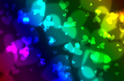Hearts bokeh background Royalty Free Stock Photos