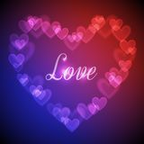 Hearts Bokeh Background Royalty Free Stock Images