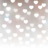Hearts bokeh background. For Your design Stock Images