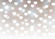 Hearts bokeh background. For Your design Royalty Free Stock Photography
