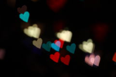 Hearts bokeh color Royalty Free Stock Image