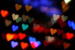 Hearts bokeh colorful Royalty Free Stock Photo